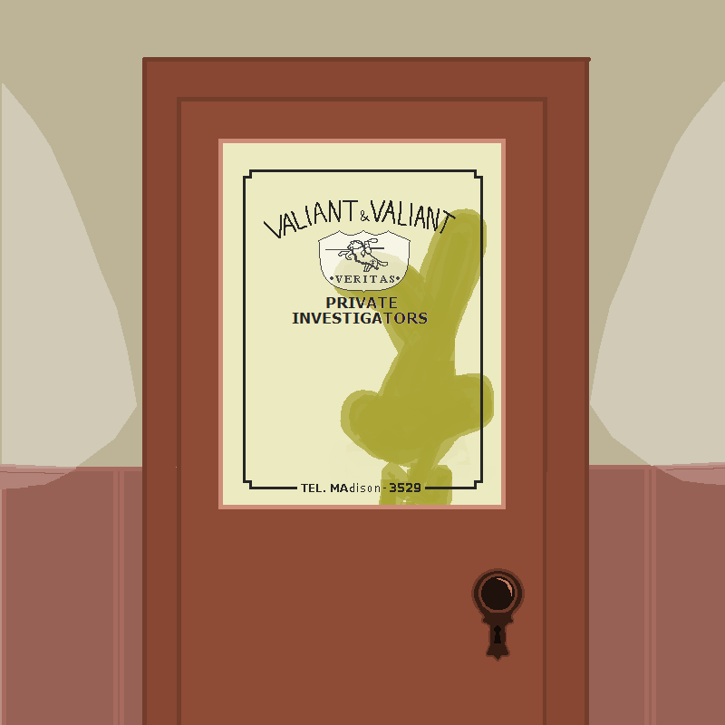 Who Framed Roger Rabbit valiant private investigator telephone keyhole doorknob silhouette bunny ears
