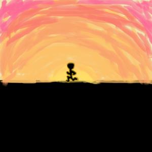 running man sunset