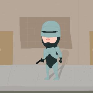 robocop street detroit gun tile cyborg machine man artificial intelligence